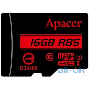 Карта памяти Apacer microSDHC/SDXC class 10 UHS-1 SD 16Gb no adapter