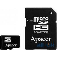 Карта пам'яті Apacer 32 GB microSDHC Class 10 UHS-I + SD adapter AP32GMCSH10U1-R