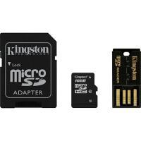 Карта памяти Kingston microSDHC/microSDXC Class 10 UHS-I SD adapter/USB reader 16Gb