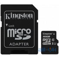 Карта пам'яті  Kingston microSDHC/SDXC UHS-I Class 10 Canvas Select SD адаптер 16Gb