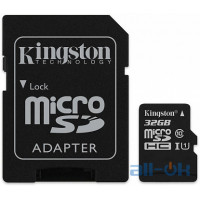 Карта пам'яті  Kingston microSDHC/SDXC UHS-I Class 10 Canvas Select SD адаптер 32Gb