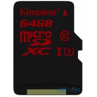 Карта пам'яті  Kingston microSDHC/SDXC UHS-I U3 90R/80W 64Gb