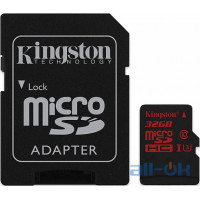 Карта пам'яті  Kingston 32 GB microSDHC class 10 UHS-I U3 + SD Adapter SDCA3/32GB
