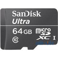 Карта пам'яті  SanDisk microSDXC class 10 UHS-I Ultra 64Gb