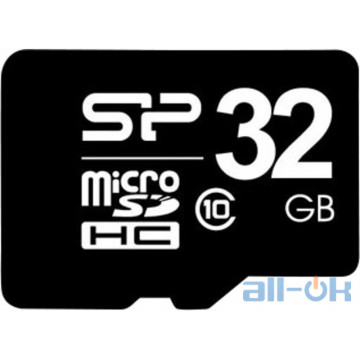 Карта памяти Silicon Power 32 GB microSDHC Class 10 + SD adapter SP032GBSTH010V10-SP