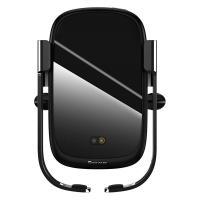 Автомобильный держатель для смартфона беспроводной зарядкой Baseus Rock-solid Electric Holder Wireless Charger Black (WXHW01-01)