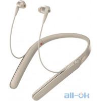 Наушники с микрофоном Sony WI-1000X Gold