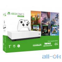 Стаціонарна ігрова приставка Microsoft Xbox One S 1TB White All-Digital Edition