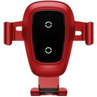 Автомобильный держатель - беспроводная зарядка Baseus Metal Wireless Charger Gravity Car Mount Red (WXYL-B09)