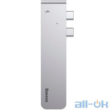 Мультипортовый адаптер Baseus Dual Type-C to USB3.0/HDMI/Type-C HUB Space Gray (CAHUB-B0G)