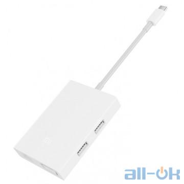 Мультипортовый адаптер Xiaomi Mi Multi-Adapter USB-C to VGA and Gigabit Ethernet White (JGQ4005TY)