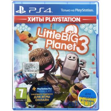 Игра LittleBigPlanet 3 (PS4, Русская версия)