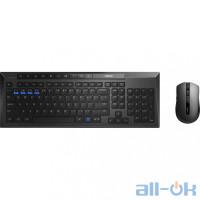 Комплект (клавиатура + мышь) RAPOO 8200M Wireless Black UA UCRF