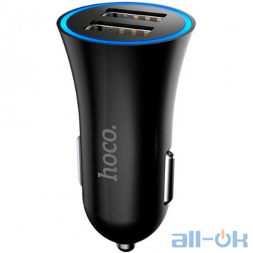Автомобильное зарядное устройство Hoco UC-204 Black