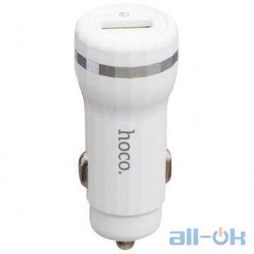 Автомобильное зарядное устройство HOCO Z27A QC2.0/3.0 1USB White