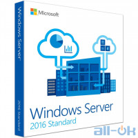 Windows Server Microsoft ПО Windows Svr Std 2016 64Bit Russian DVD 16 Core (P73-07122)