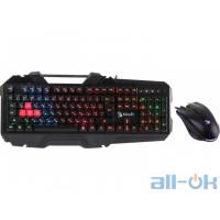 Комплект (клавіатура + миша)  A4Tech Bloody B2500 Black UA UCRF