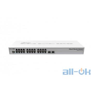 Коммутатор Smart Mikrotik CRS326-24G-2S+RM UA UCRF
