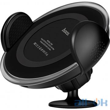 Автомобильный держатель - беспроводная зарядка HOCO CW4 Car Qi Wireless Charging Black