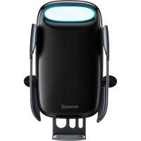 Автомобильный держатель - беспроводная зарядка Baseus Aurora Electric Holder Wireless Charging Black (WXHW02-01)