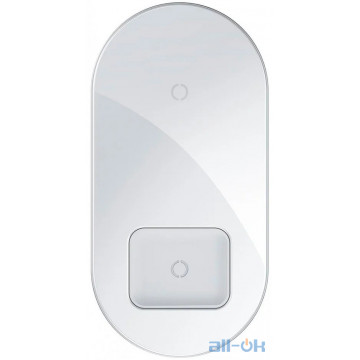 Беспроводное зарядное устройство Baseus Simple 2in1 18W White (WXJK-02)
