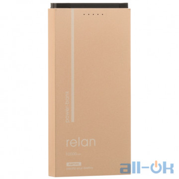 Внешний аккумулятор (Power Bank) REMAX Power Bank Relan RPP-65 10000 mah Gold