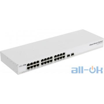 Коммутатор управляемый 2-го уровня Mikrotik Cloud Smart Switch (CSS326-24G-2S+RM) UA UCRF