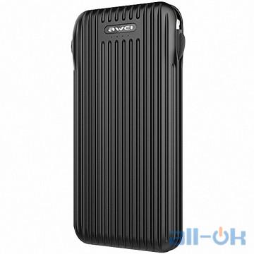 Внешний аккумулятор (Power Bank) Awei P80K 10000 mAh Black
