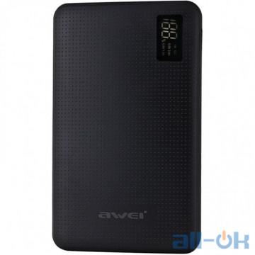Внешний аккумулятор (Power Bank) Awei P56K 30000mAh Black UA UCRF