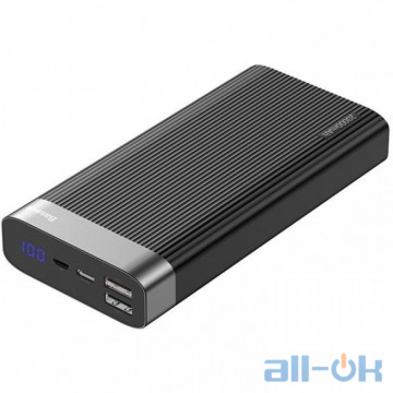 Внешний аккумулятор (Power Bank) Baseus Parallel Quick Charge 3.0 Type-C 20000mAh 18W Black (PPALL-APX01)