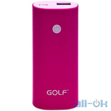 Внешний аккумулятор (Power Bank) GOLF Gf-208 5200 mAh Pink