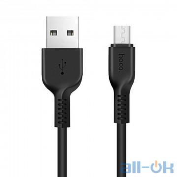 Кабель Hoco X20 Flash Micro USB Cable (1m) Black