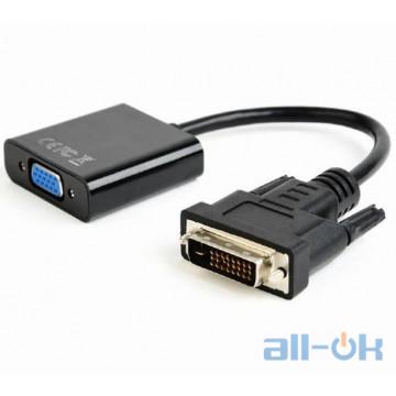 Адаптер Cablexpert DVI - VGA 0.2m Black (A-DVID-VGAF-01)
