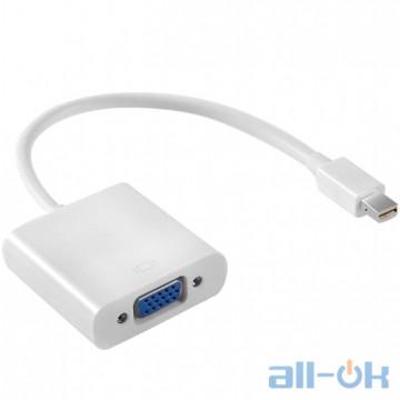 Адаптер Cablexpert Mini DisplayPort - VGA White (AB-MDPM-VGAF-02-W)