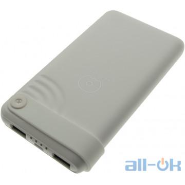 Внешний аккумулятор (Power Bank) WUW U24 10000mAh Li-pol 2USB 2.1A Slim White