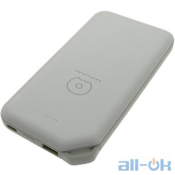 Внешний аккумулятор (Power Bank) WUW Y43 10000mAh Li-pol USB+USB-C PD 18W (WUW-Y43) White