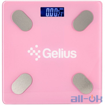 Весы напольные электронные Gelius Floor Scales Zero Fat GP-BS001 Pink