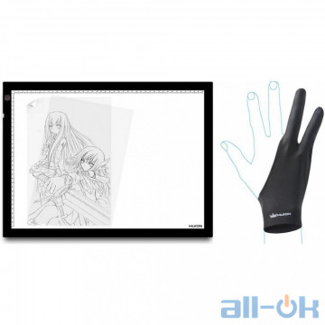 Графический планшет Huion A3 LED Light Pad + перчатка UA UCRF