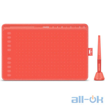 Графический планшет Huion HS611 Coral Red UA UCRF