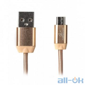 Кабель microUSB Cablexpert USB2.0 AM/Micro-BM Gold 1m (CCPB-M-USB-08G)