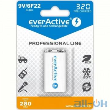 Аккумулятор everActive 6LR61 320mAh BL 1 шт. EVHRL22-320