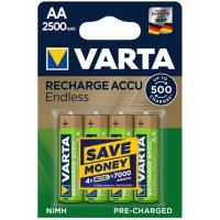Аккумулятор Varta Rechargeable Accu Endless AA/HR06 Ni-MH 2500 mAh BL 4шт Varta 56686
