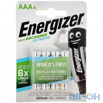 Аккумулятор Energizer Recharge Extreme AAA/HR03 LSD Ni-MH 800 mAh BL 4шт ENR EXTREME RECH 800