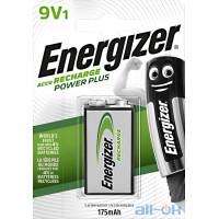 Акумулятор Energizer Recharge Power Plus HR6F22 LSD Ni-MH 175 mAh BL 1шт