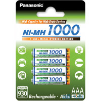 Акумулятор Panasonic High Capacity AAA/HR03 Ni-Mh 1000 mAh BL 4 шт BK-4HGAE/4BE