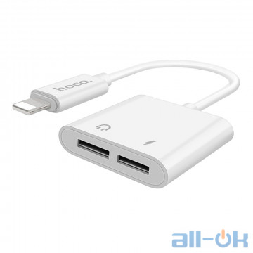 Адаптер Hoco LS5 Dainty 2in1 Lightning Cable