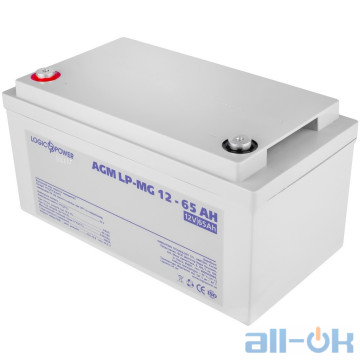 Аккумулятор для ИБП AGM LogicPower LP-MG 12 - 65 AH SILVER UA UCRF