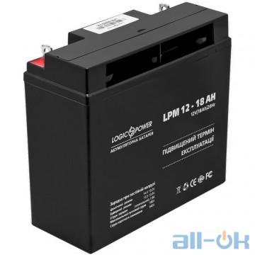 Аккумулятор для ИБП LogicPower LPM 12 - 18 AH (4133) UA UCRF