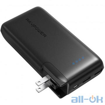 Внешний аккумулятор (Power Bank) RAVPower Portable Charger with AC Plug 10500mAh Black RP-PB066