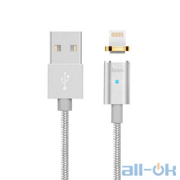 Кабель USB Hoco U16 Magnetic Adsorption Lightning Silver